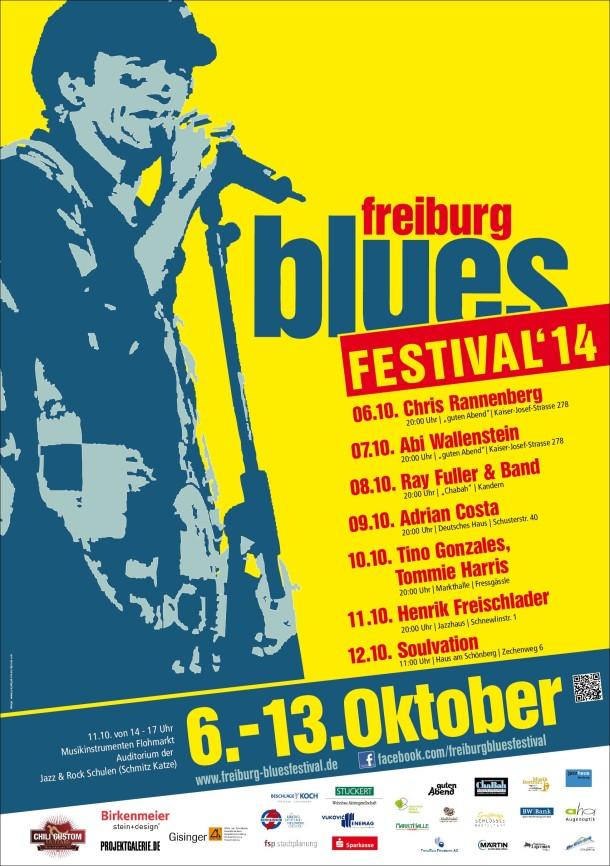 Bluesfestival-Veranstaltungs-Poster